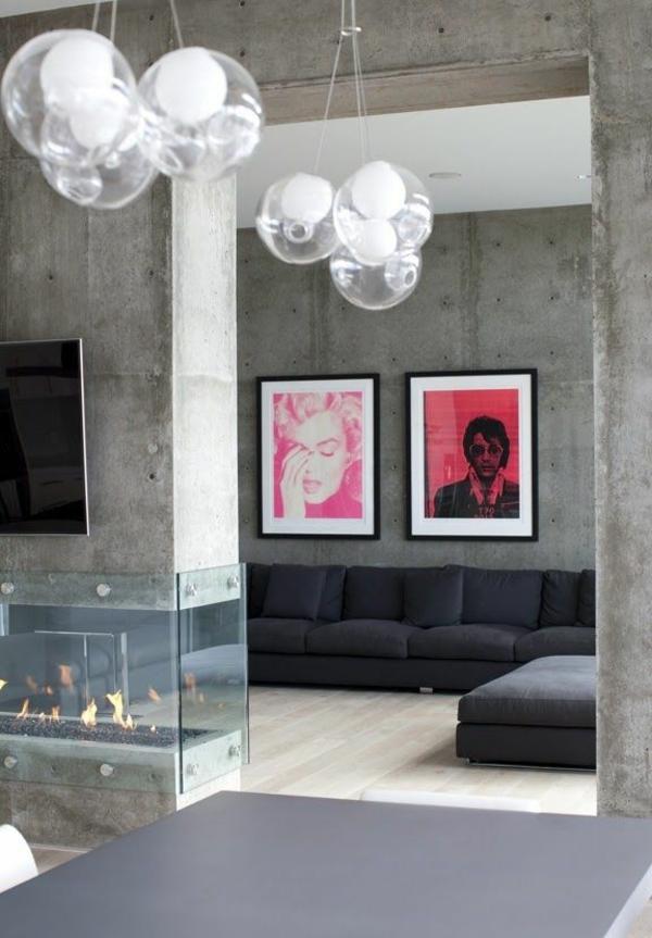wandfarbe beton farbe wände streichen betonoptik