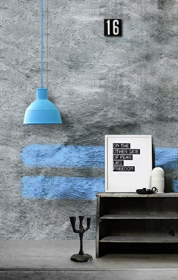 Wandfarbe beton wie kann man eine betonwand streichen - Wand schwarz streichen ...