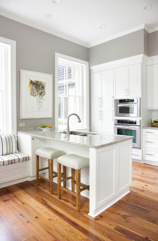 wandfarbe grau küche wandfarbe hellgrau küchenschränke weiß