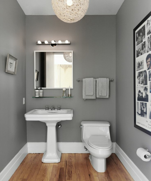 Badezimmer Grau Beige