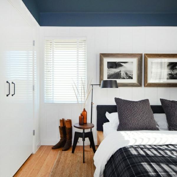 schlafzimmer grun braun Wandfarbe apricot warm und gemutlich