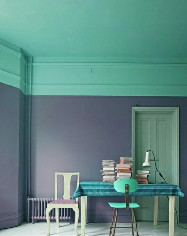wandfarben bilder 40 inspirierende beispiele. Black Bedroom Furniture Sets. Home Design Ideas