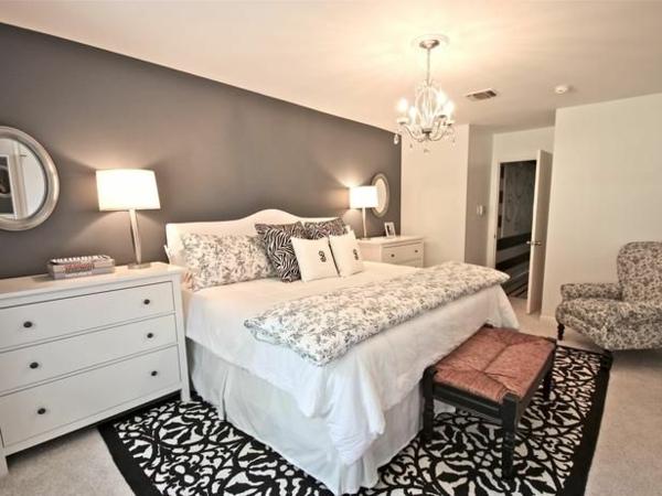 wandfarben schlafzimmer ideen bett wandfarbe grau teppichboden - Schlafzimmer Farb Ideen