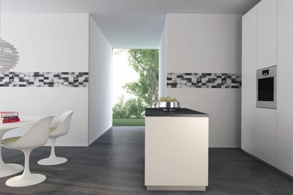 wandfliesen küche fliesenspiegel rückwand küchenfliesen moderne küche gestalten