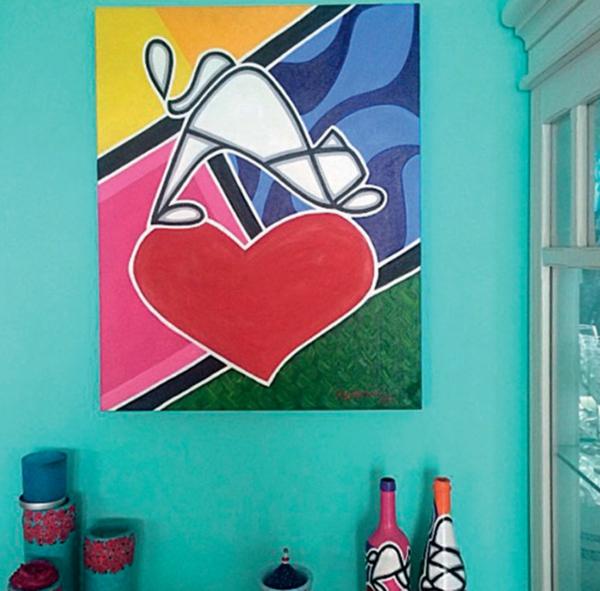 wandgestaltung wohnideen wanddeko ideen wandgemälde pop art popkunst
