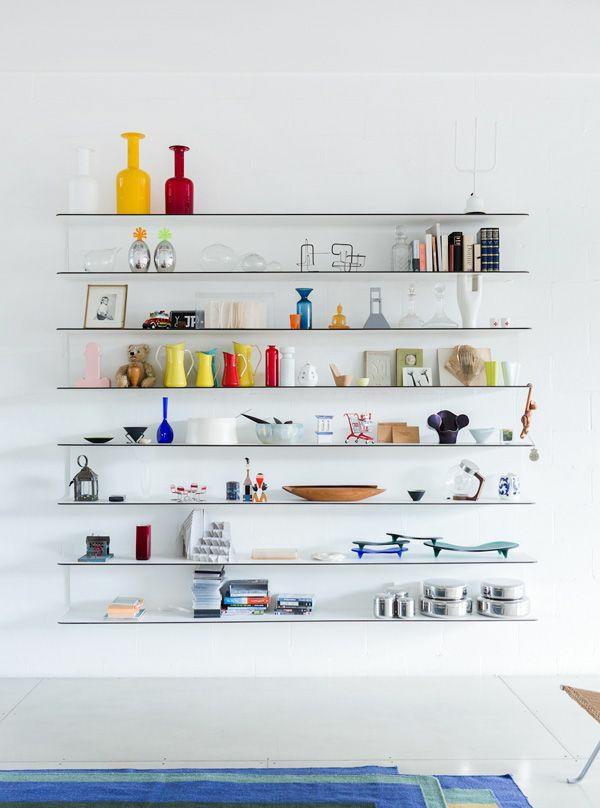 wandgestaltung wohnzimmer wände gestalten dekoartikel wandregale glas