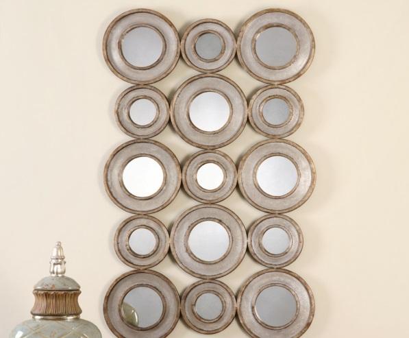 antik silber barockstil rahmen Wandspiegel in Silber