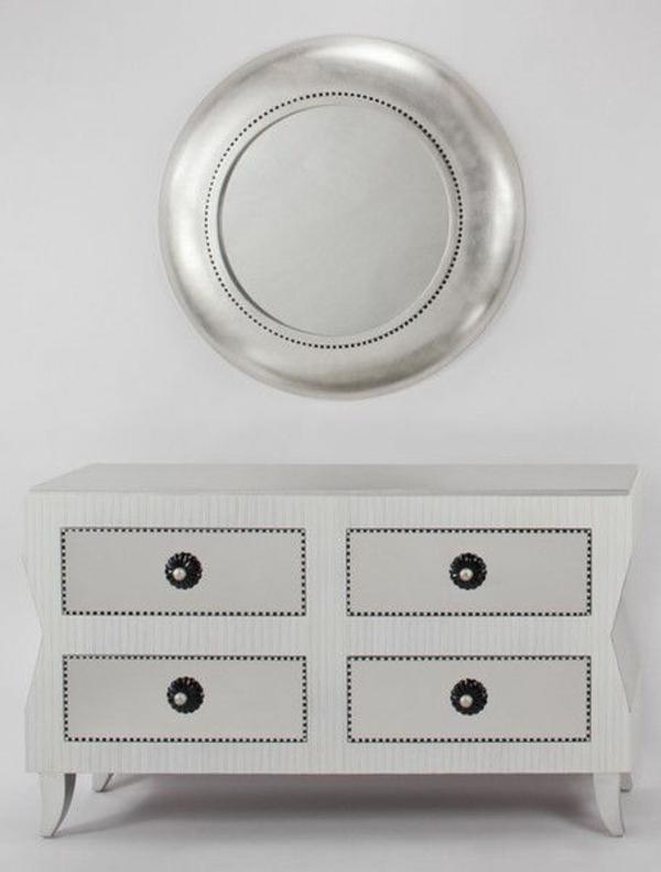 30 wandspiegel in silber moderne und antike designs im barockstil. Black Bedroom Furniture Sets. Home Design Ideas