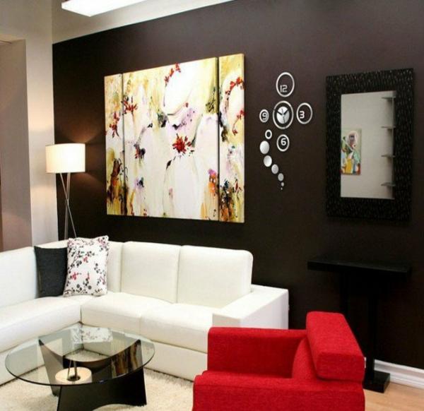 Designer wanduhren die als wanddeko dienen for Designer wanduhren wohnzimmer