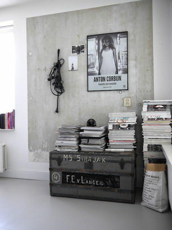 weiße wandfarbe beton farbe wände streichen betonoptik wandgestaltung ideen