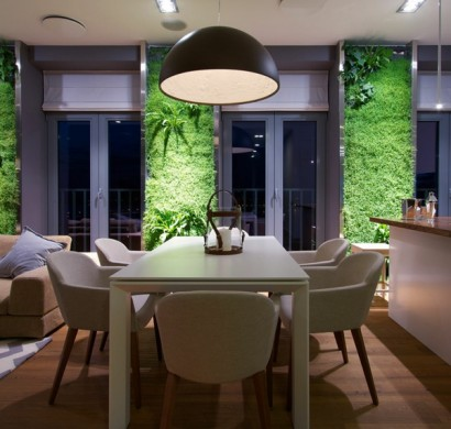 moderne wohnideen richtig beleuchteter vertikaler garten zu hause. Black Bedroom Furniture Sets. Home Design Ideas