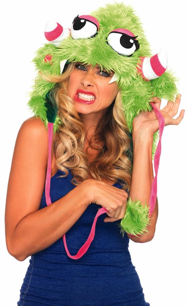 wintermützen feminin damen und herren stricken grün monster