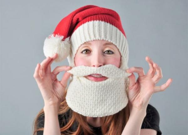 wintermützen damen und herren stricken weihnachtsmann