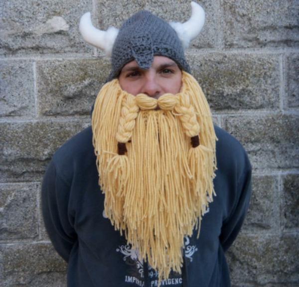 wintermützen blond damen und herren stricken wikinger