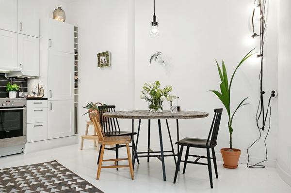 wandleuchten innen wohnung skandinavisches design offener wohnraum esszimmer wandleuchten pendelleuchte