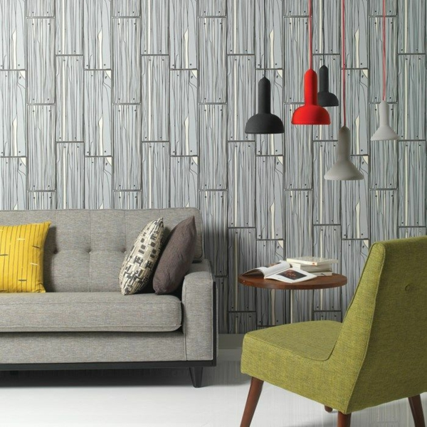 coole wohnzimmer ideen:Cool Living Room Wallpaper Ideas