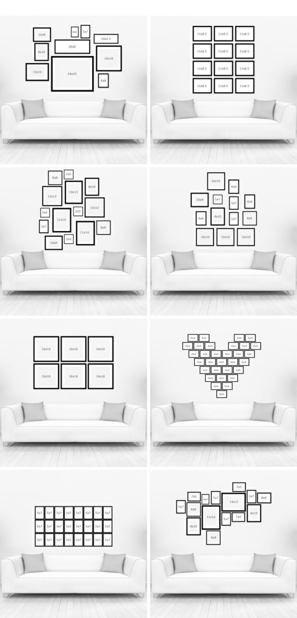 deko wohnzimmer wand:wohnzimmer wandgestaltung mit bildern wohnzimmer sofa weiß