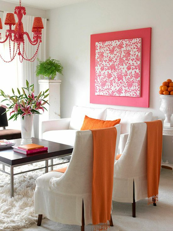 Wandgestaltung Wohnzimmer Rot: Wohnzimmer Farben Grau Rot ... Wandgestaltung Wohnzimmer Rot