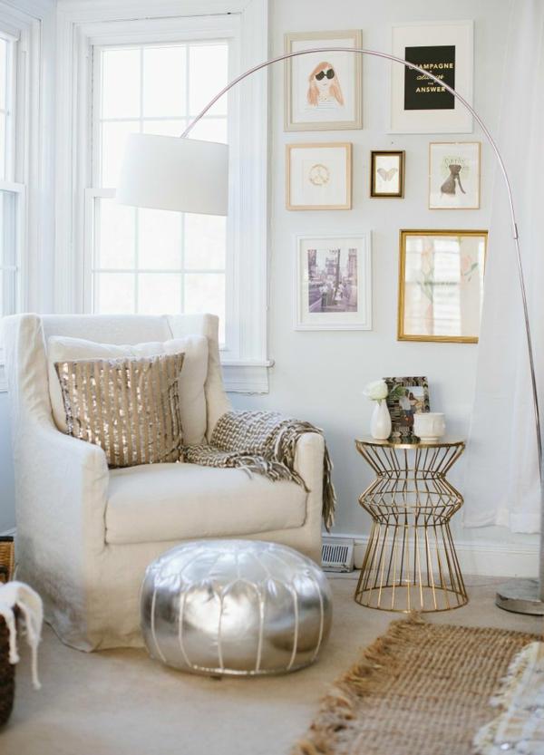 Wohnzimmerlampe Orientalisch Wohnzimmerlampen Modern Standleuchten Bodenlampe Sitzkissen Silber