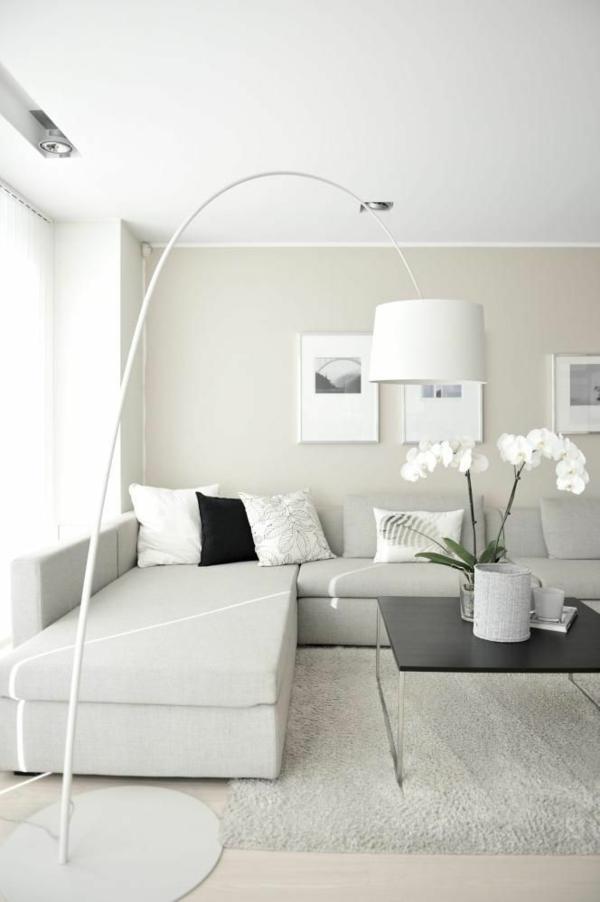 wohnzimmerlampen holz:Modern White Living Room