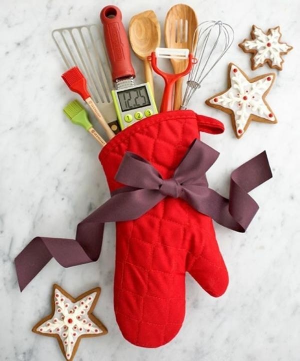 exklusive Wohnaccessoires rot handschuhe weihnachten