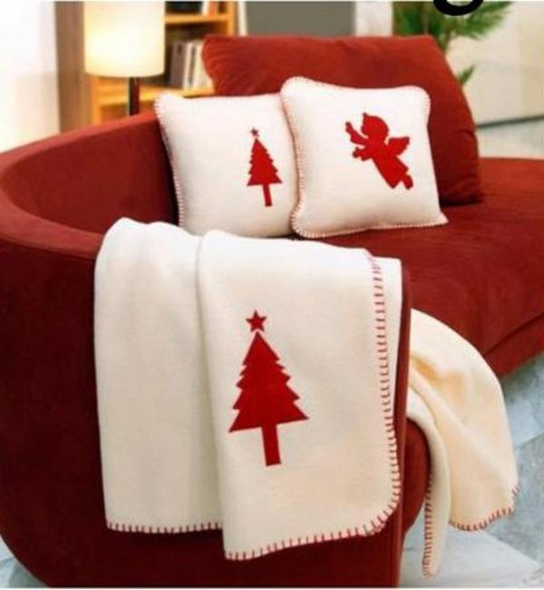 Moderne Weihnachtsdeko basteln überwürfe christbaum