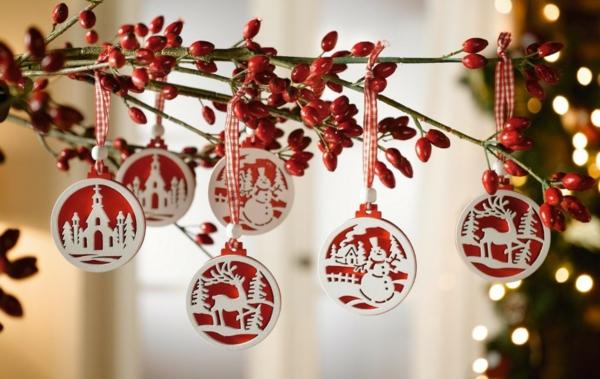 Bastelidee für Weihnachten Moderne Weihnachtsdeko christbaum rund