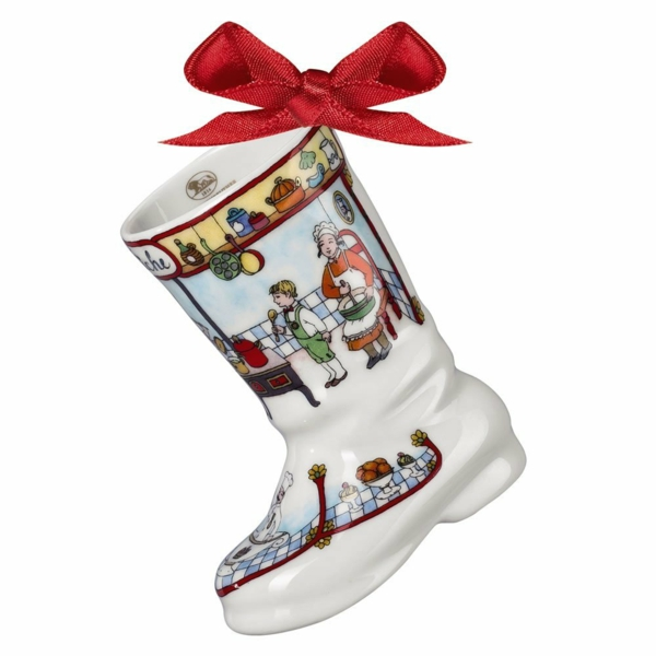 Bastelidee Moderne Weihnachtsdeko keramisch stiefel
