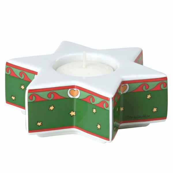 Weihnachten Moderne Weihnachtsdeko kerze polarstern