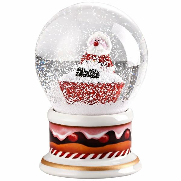 Moderne Weihnachtsdeko schnee