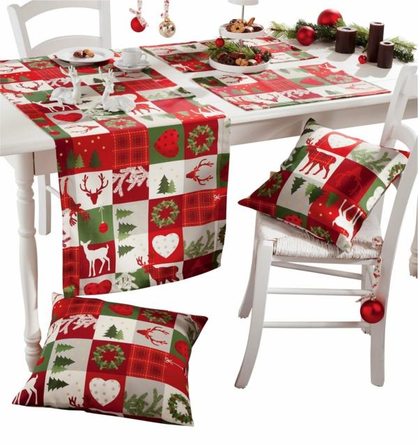 Bastelidee tischdecken Weihnachten Moderne Weihnachtsdeko