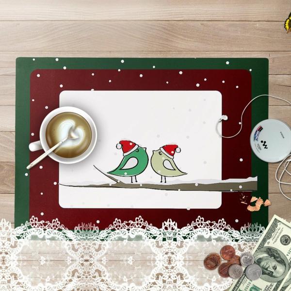 Moderne Weihnachtsdeko vogel zeichnen