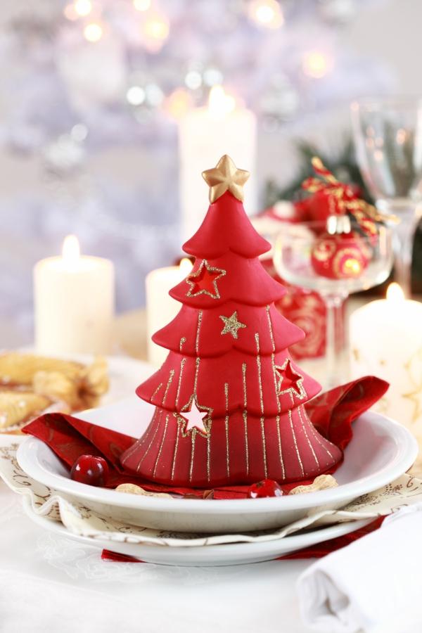 Bastelidee kerzen Weihnachten Moderne Weihnachtsdeko weihnachtsbaum