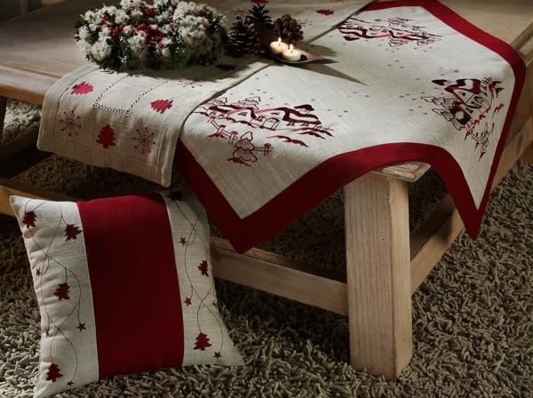 weich komfortabel Moderne Weihnachtsdeko wolle rot grau