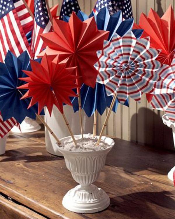 Bastelideen aus Papier amerikanisch stil