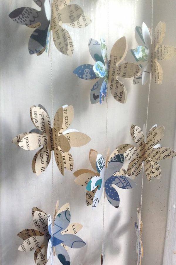 Bastelideen aus Papier girlanden schön