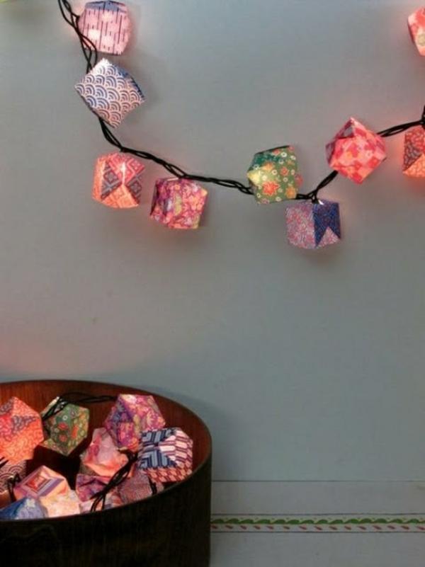 Bastelideen aus Papier girlanden weihnachtlich
