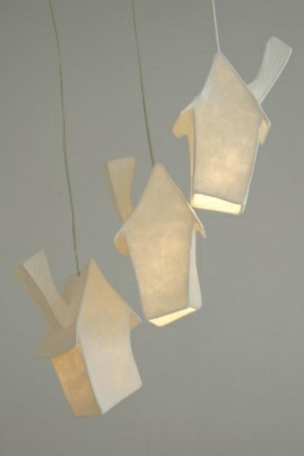 Bastelideen toll Papier hängelampen häuser