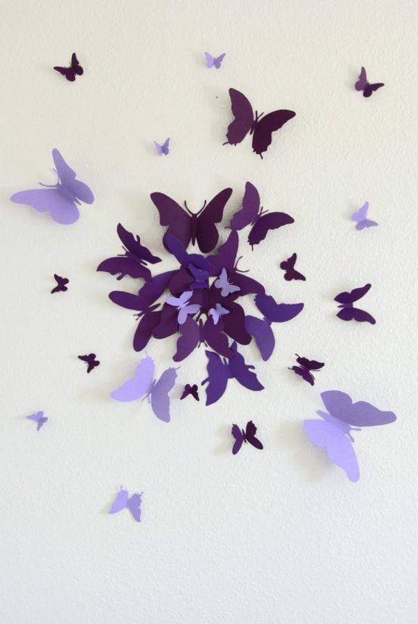 Bastelideen aus Papier lila dunkel hell