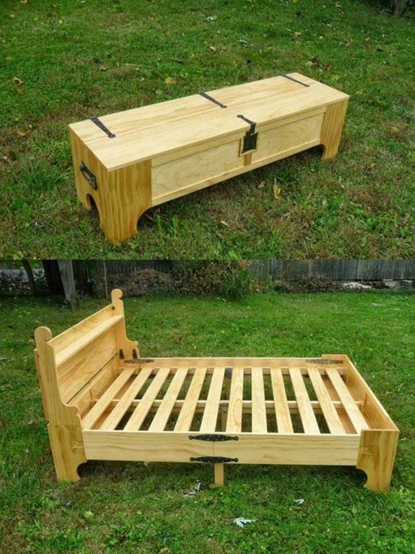 Betten aus Holzpaletten kommode gestell