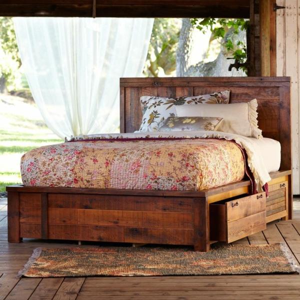 DIY Betten Holzpaletten matratzen bettdecken