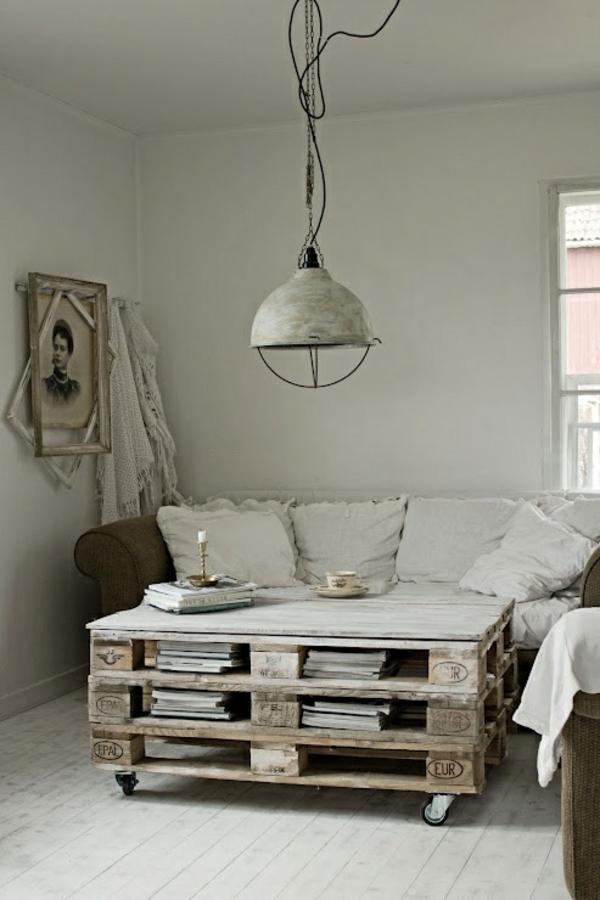 Möbel aus alten Paletten couchtisch