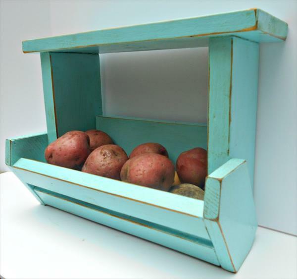basteln Möbel aus alten Paletten früchte