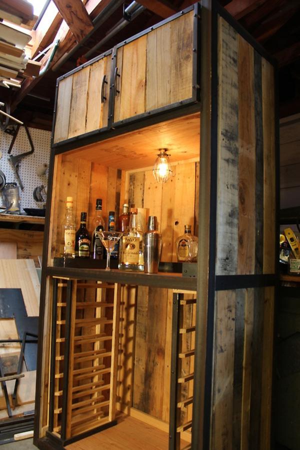 häuslich DIY Möbel aus alten Paletten getränke bar