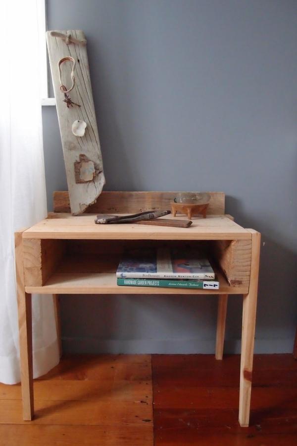 DIY Möbel aus alten Paletten schreibtisch büro