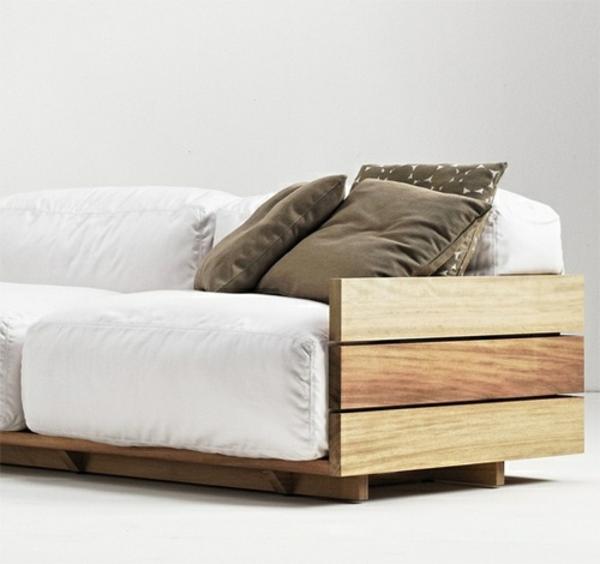 DIY Möbel aus alten Paletten sofas armlehnen