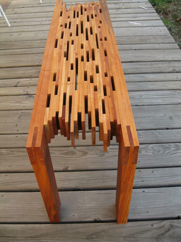Möbel aus alten Paletten wohnzimmer tisch muster