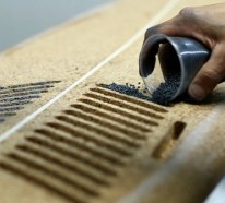 Das Mercedes Surfbrett komplett aus Korken hergestellt