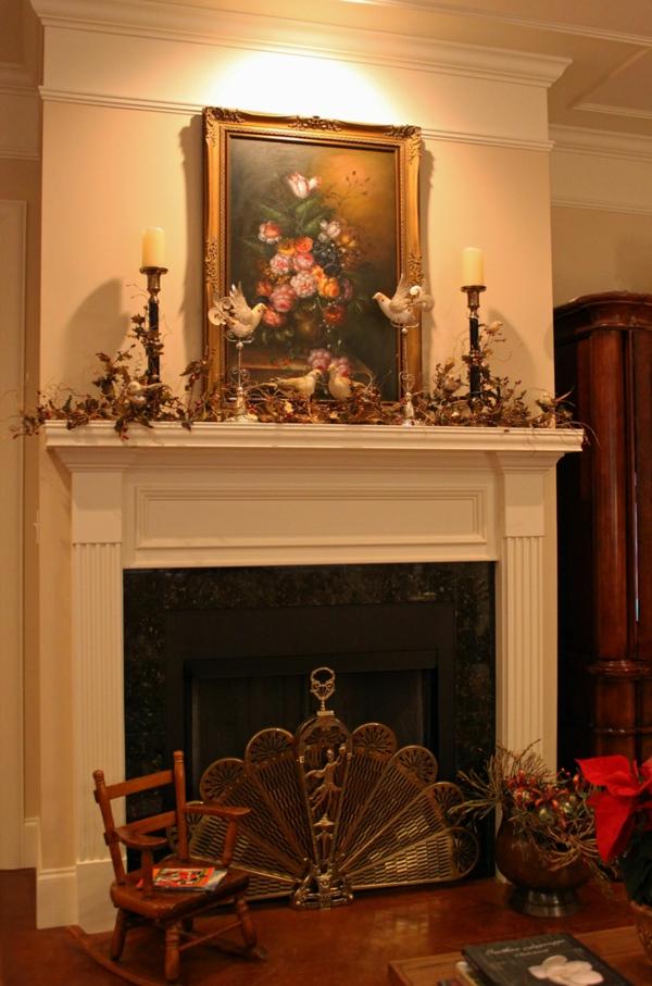 Deko Girlanden Zu Weihnachten Klassisch Kamin