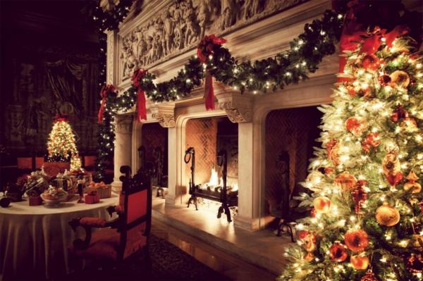 Deko Weihnachten Girlanden  licht fröhlich